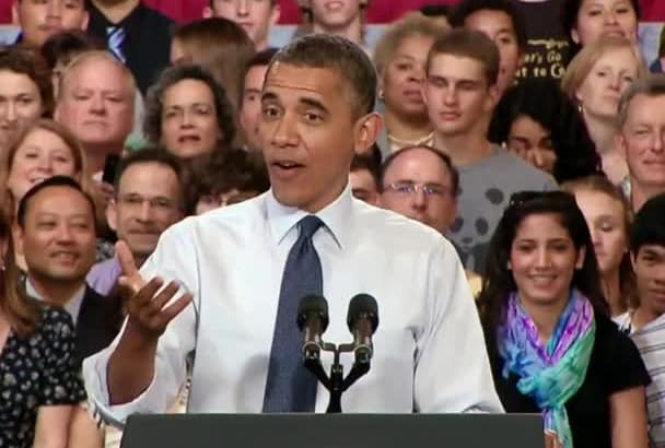personalize Birthday Greeting from the Actual Obama at a Speech Event