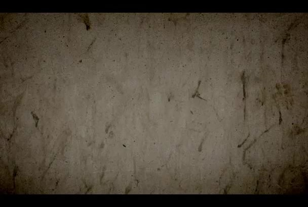 add any title with concrete crumble text effect in this video just