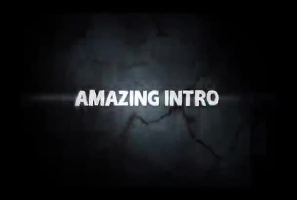 within 24 hours, make an AMAZING video intro just
