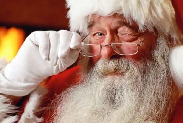 record a Santa Claus voiceover