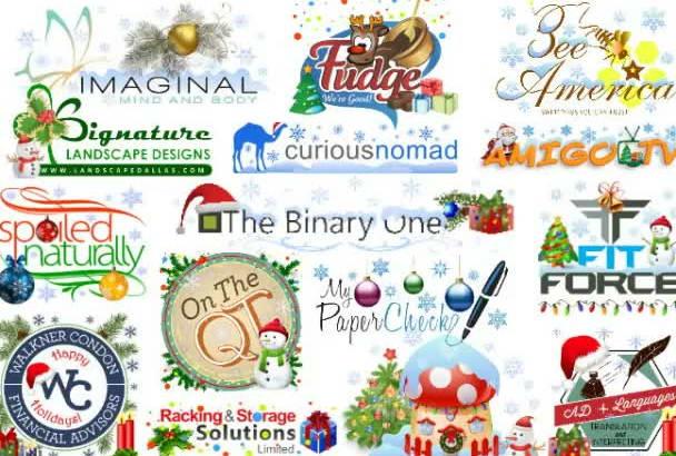do a Christmas Makeover on Your Logo