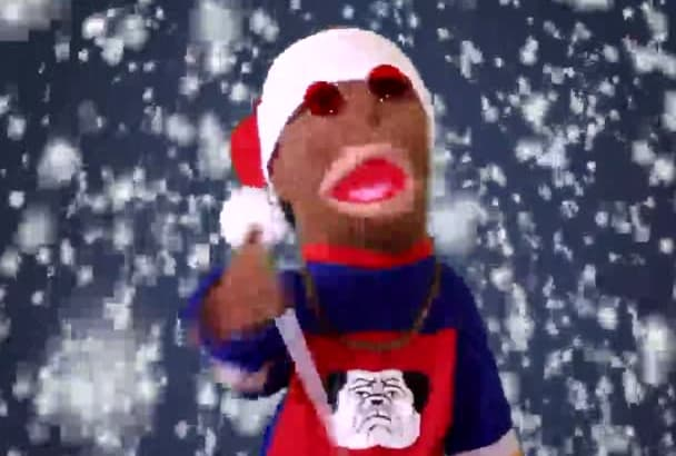 christmas Puppet your message