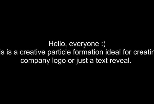 create smooth logo intro colorful particle formation good for company brand and text reveal title