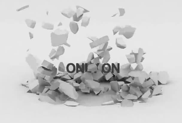 create Ground Smash Logo opener video