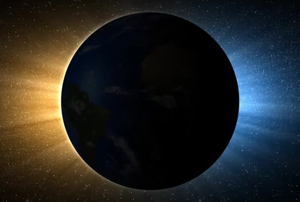 create a stunning Solar Eclipse HQ video with logo or text