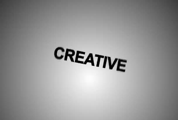 create CREATIVE killer text intro video