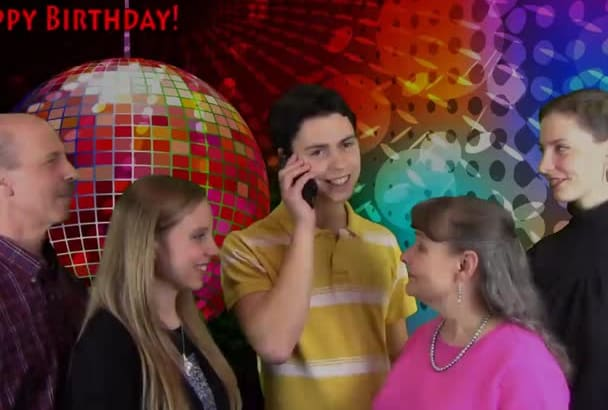 sing a Personalized Happy Birthday Song Live Over the Phone in 4 Part Harmony