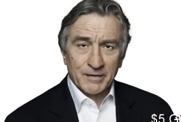 mimic Robert De Niro In A Video Animation