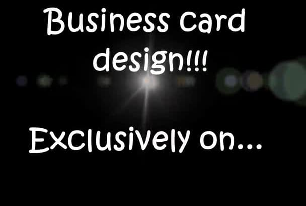 design a nice and elegant business card
