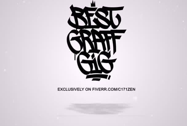draw an awesome GRAFFITI design