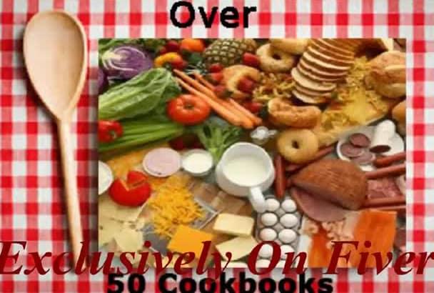 give you over 50 fantastic cookbooks