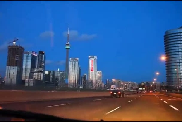 make a video of your logo, picture, message on CN Tower buildings Toronto Canada