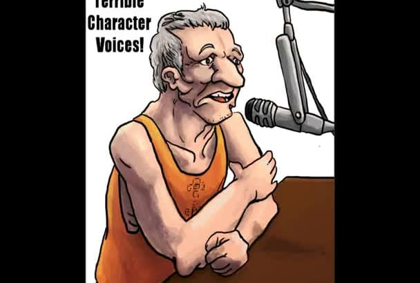 create vocal impersonations and original characters