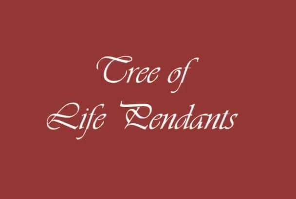 make you a tree of life pendant