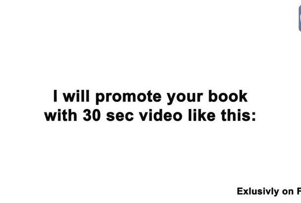 promote your book with 30 sec video