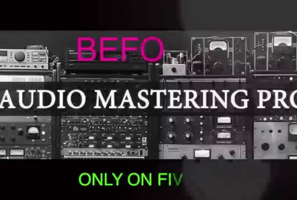 professionally master your tracks or audio files