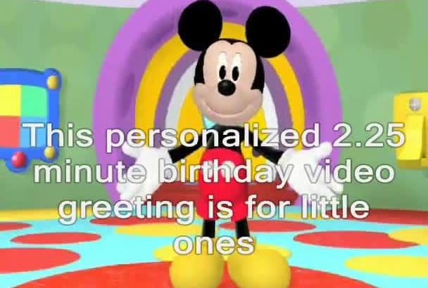 Create a personalized birthday greeting from disney mickey mouse by create a personalized birthday greeting from disney mickey mouse m4hsunfo