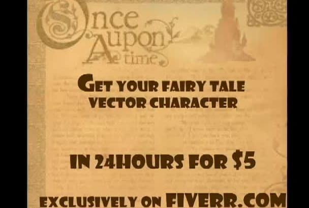 create you fairy tale VECTOR character