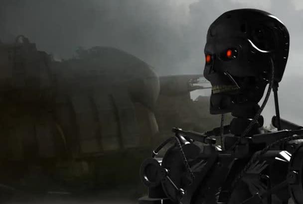 create a dynamic logo Terminator style