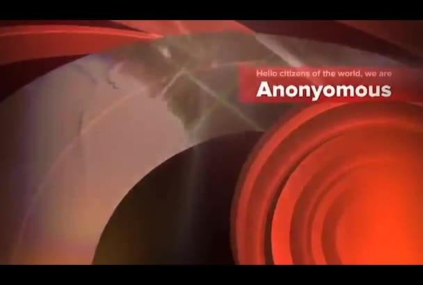 create amazing anonymous video