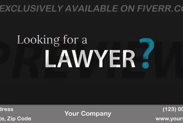brand a video customized for Lawyer Firms