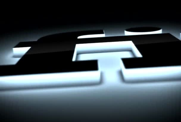 create a 3d logo glowing animated intro video