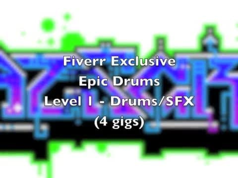 create an epic orchestral drums for games or movie