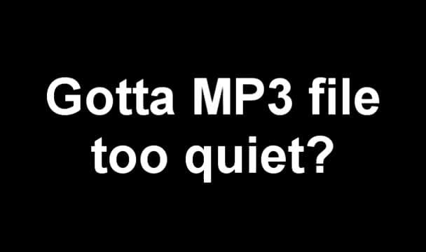 make your mp3 louder
