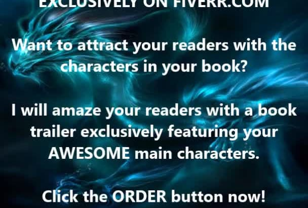 video trailer book,ebook featuring main characters