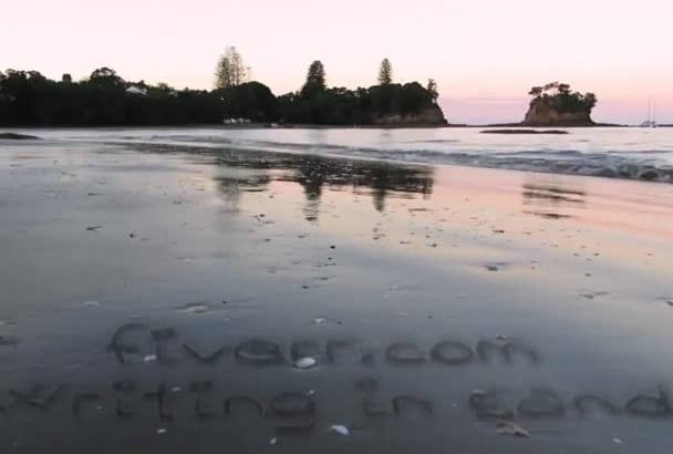 write your message in sand and wash by sea wave