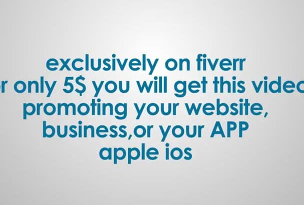 promote your apple app with this ipad video