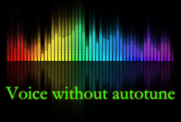 professionally produce autotune effect on your voice in less than 24 hours