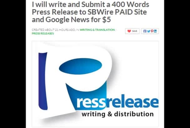 write a 400 Words Press Release and submit to PressReleasePing