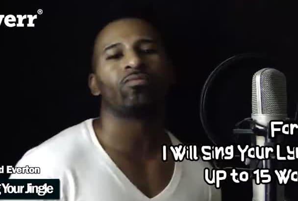sing or create your jingle