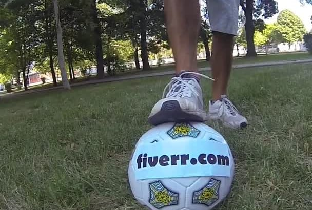 juggle a soccer ball with your message on it