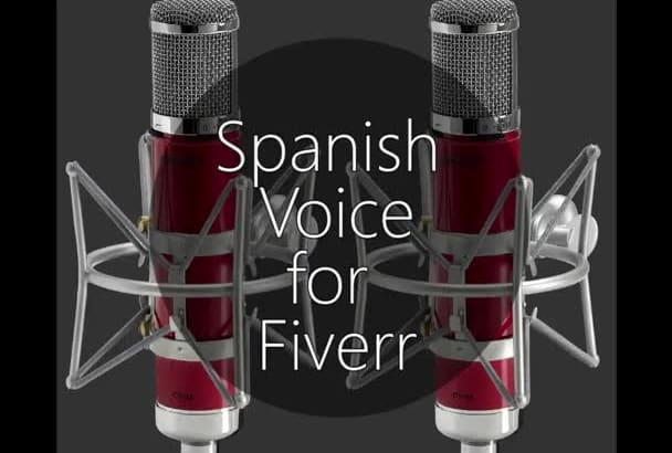 record a professional Spanish voice over