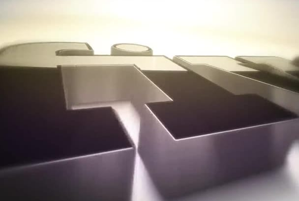 create CLEAN and Nice 3d intro logo in Full hd