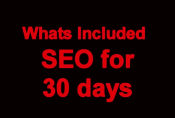 seO for 10 days any site