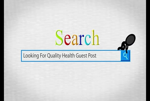 give You A Guest Post On PR5 Health Blog With Content Link