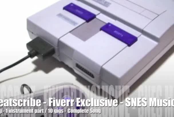 create a 16bit SNES Super Nintendo chiptune  track