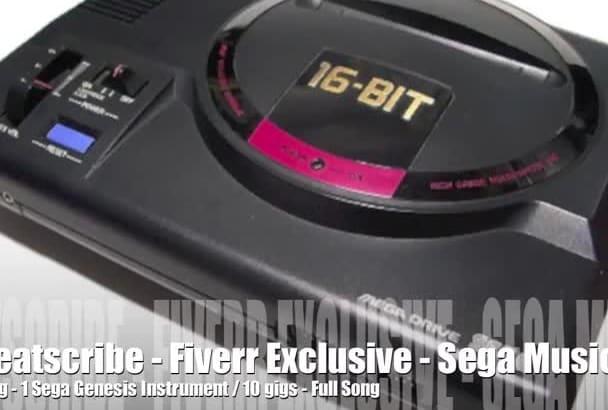 create a Sega Genesis retro 16bit chiptune track