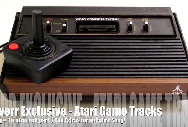 create an Atari retro chiptune video game song