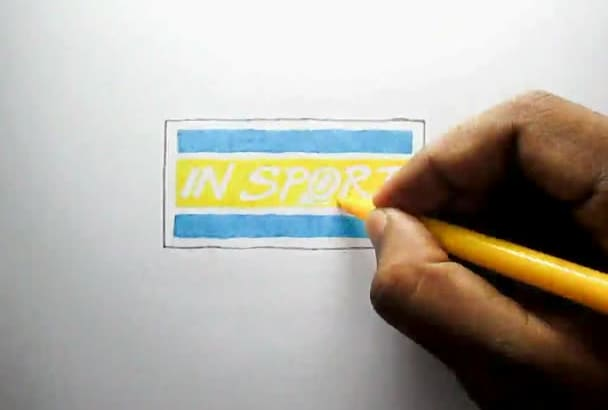 make speed drawing animation of your  LOGO