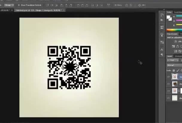 create 4 different colored QR Codes with your logo