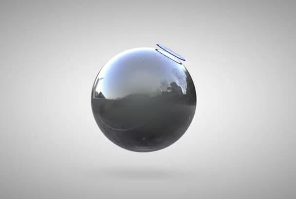 a professional 3D ball logo reveal