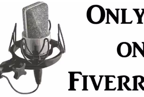 narrate your story or book on a studio microphone 250 words