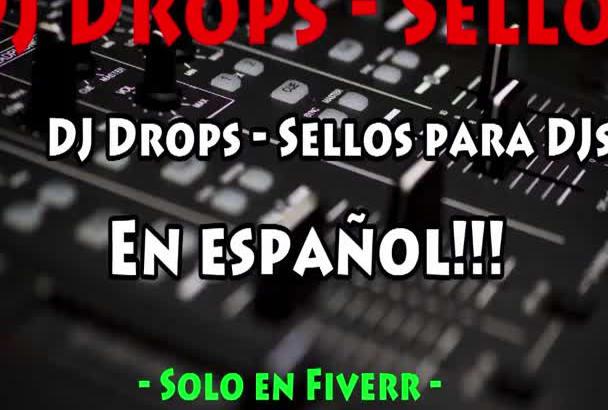 create DJ Drops Sellos para DJs en Español e Ingles