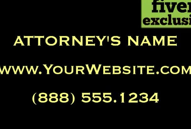 personalize a video for a Divorce Lawyer