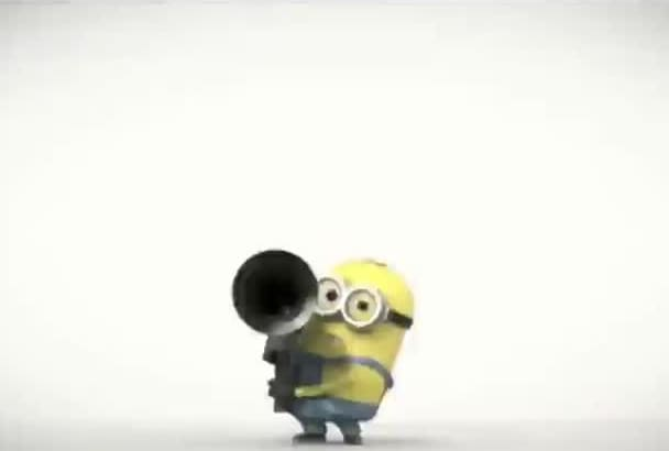 put Your Logo in this awesome evil minion video