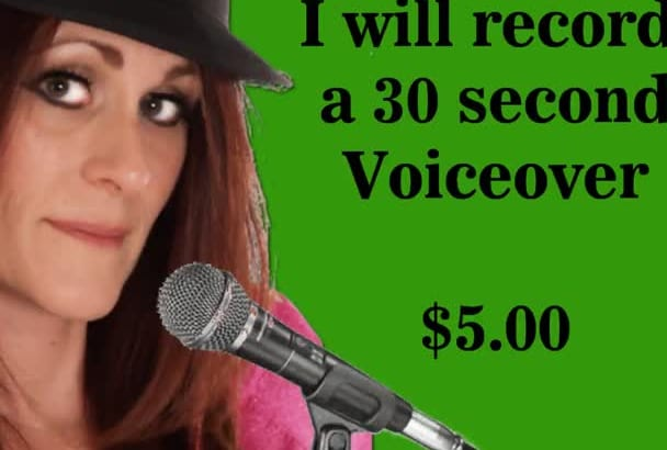 record my American Female Voice Professional  Experienced